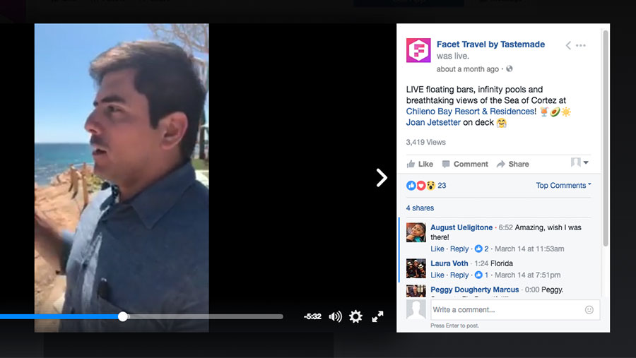 FEATURED ON FACET TRAVEL FACEBOOK LIVE