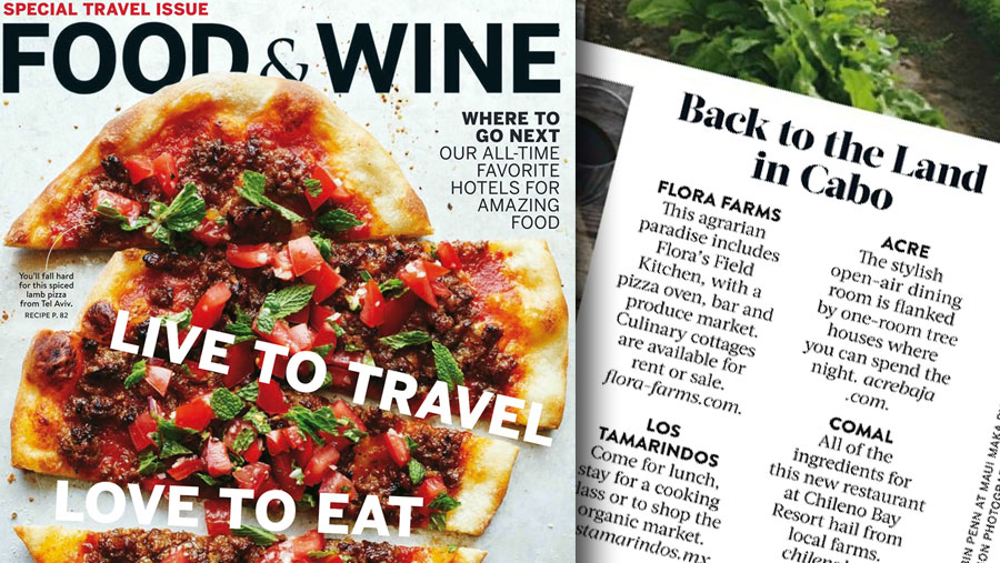 FEATURED IN FOOD & WINE MAGAZINE