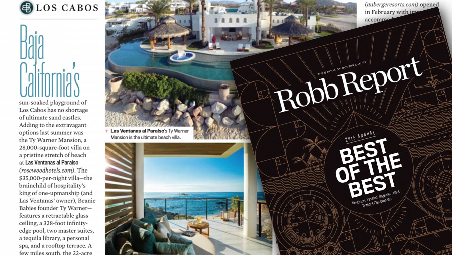 FEATURED IN ROBB REPORT'S BEST OF THE BEST